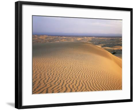 California, Imperial Sand Dunes, Patterns of Glamis Sand Dunes-Christopher Talbot Frank-Framed Art Print