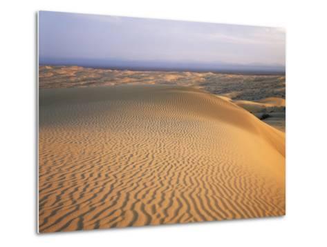 California, Imperial Sand Dunes, Patterns of Glamis Sand Dunes-Christopher Talbot Frank-Metal Print