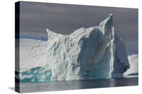 Antarctica. Gerlache Strait. Iceberg with Different Textures-Inger Hogstrom-Stretched Canvas Print