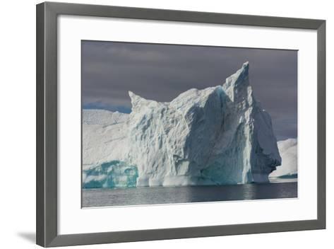 Antarctica. Gerlache Strait. Iceberg with Different Textures-Inger Hogstrom-Framed Art Print