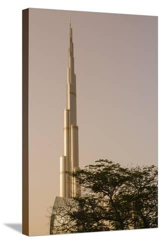 Burj Khalifa the Tallest Building in the World Downtown Dubai, Uae-Michael DeFreitas-Stretched Canvas Print