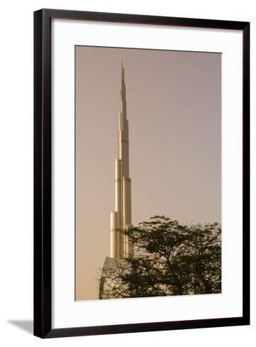Burj Khalifa the Tallest Building in the World Downtown Dubai, Uae-Michael DeFreitas-Framed Art Print