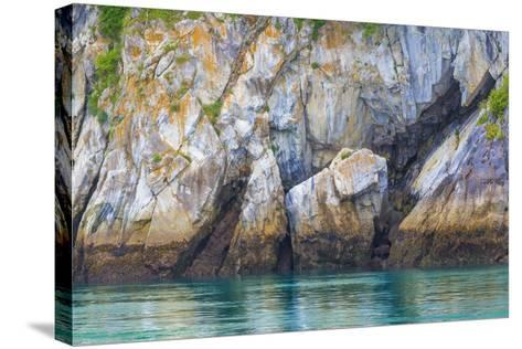 Alaska, Glacier Bay National Park. Cliff Reflects in Seawater-Jaynes Gallery-Stretched Canvas Print