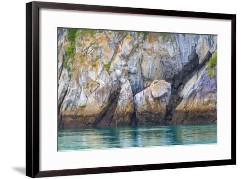 Alaska, Glacier Bay National Park. Cliff Reflects in Seawater-Jaynes Gallery-Framed Art Print