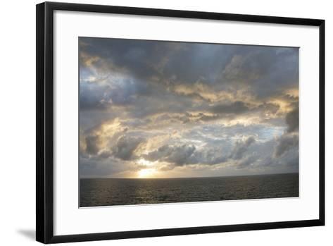 Australia, Queensland, Port Douglas. Sunrise over the Coral Sea-Cindy Miller Hopkins-Framed Art Print