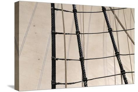 Canada, B.C, Victoria. Rigging and Sails on the Hms Bounty-Kevin Oke-Stretched Canvas Print