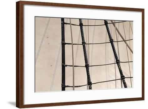 Canada, B.C, Victoria. Rigging and Sails on the Hms Bounty-Kevin Oke-Framed Art Print