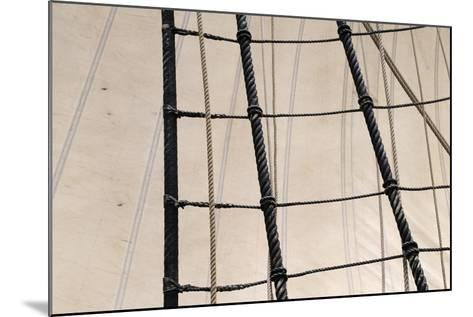 Canada, B.C, Victoria. Rigging and Sails on the Hms Bounty-Kevin Oke-Mounted Photographic Print