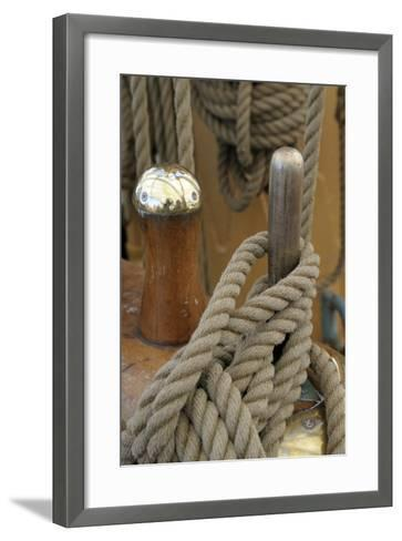 Canada, B.C, Victoria. Rigging Rope around a Peg on the Uscg Eagle-Kevin Oke-Framed Art Print