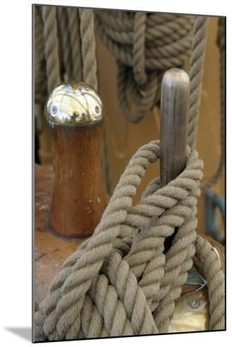Canada, B.C, Victoria. Rigging Rope around a Peg on the Uscg Eagle-Kevin Oke-Mounted Photographic Print