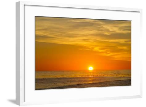Canada, Pacific Rim National Park Reserve, Sunset from Tsusiat Falls Beach Camp-Jamie And Judy Wild-Framed Art Print