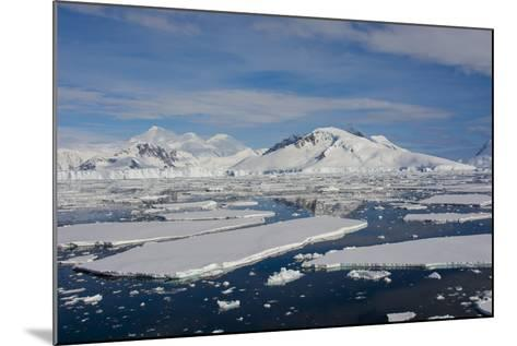 Antarctica. Antarctic Circle. Adelaide Island. the Gullet. Ice Floes-Inger Hogstrom-Mounted Photographic Print