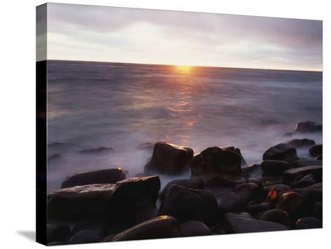 California, San Diego, Sunset Cliffs, Sunset over the Ocean-Christopher Talbot Frank-Stretched Canvas Print