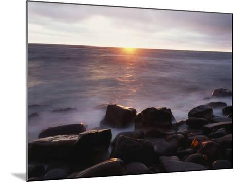 California, San Diego, Sunset Cliffs, Sunset over the Ocean-Christopher Talbot Frank-Mounted Photographic Print