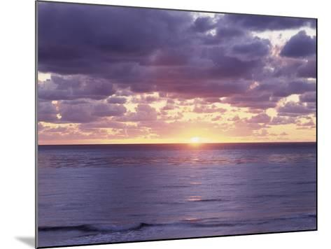 California, San Diego, Sunset Cliffs, Sunset over the Pacific Ocean-Christopher Talbot Frank-Mounted Photographic Print