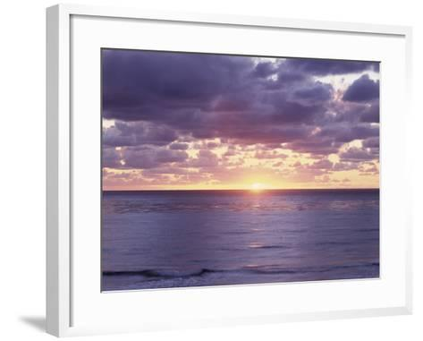 California, San Diego, Sunset Cliffs, Sunset over the Pacific Ocean-Christopher Talbot Frank-Framed Art Print