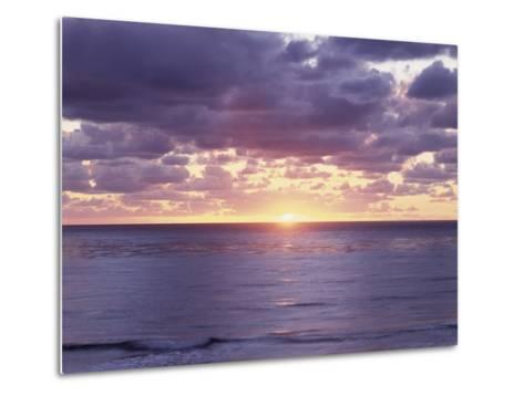 California, San Diego, Sunset Cliffs, Sunset over the Pacific Ocean-Christopher Talbot Frank-Metal Print
