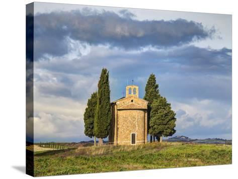Europe, Italy, Tuscany, San Quirico Dorcia. the Vitaleta Chapel-Julie Eggers-Stretched Canvas Print