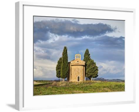 Europe, Italy, Tuscany, San Quirico Dorcia. the Vitaleta Chapel-Julie Eggers-Framed Art Print