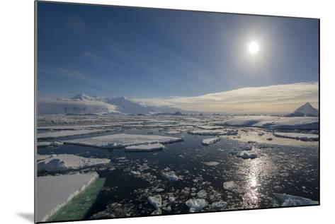 Antarctica. Antarctic Peninsula. the Gullet. Ice Floes and Brash Ice-Inger Hogstrom-Mounted Photographic Print