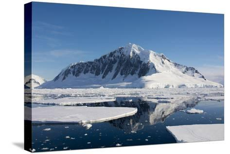 Antarctica. Antarctic Peninsula. the Gullet. Ice Floes and Brash Ice-Inger Hogstrom-Stretched Canvas Print