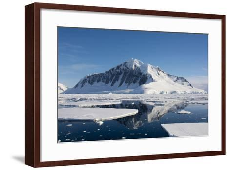 Antarctica. Antarctic Peninsula. the Gullet. Ice Floes and Brash Ice-Inger Hogstrom-Framed Art Print