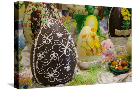 Australia. Easter Display of Decorated Chocolate Eggs and Candy-Cindy Miller Hopkins-Stretched Canvas Print