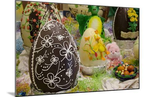 Australia. Easter Display of Decorated Chocolate Eggs and Candy-Cindy Miller Hopkins-Mounted Photographic Print