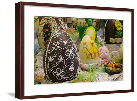 Australia. Easter Display of Decorated Chocolate Eggs and Candy-Cindy Miller Hopkins-Framed Art Print