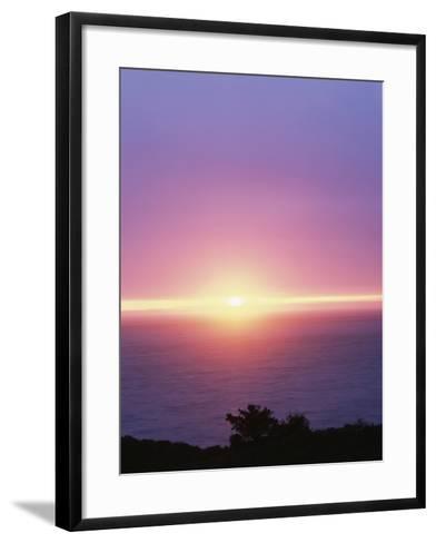 California, Big Sur Coast, Central Coast, Sunset over the Ocean-Christopher Talbot Frank-Framed Art Print