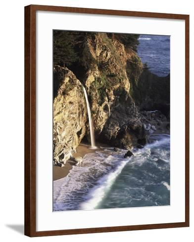 California, Big Sur Coast, Julia Pfeiffer Burns Sp, Mcway Falls-Christopher Talbot Frank-Framed Art Print