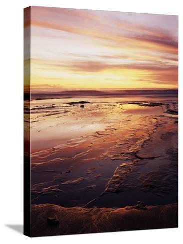 California, San Diego, Sunset Cliffs, Sunset over Tide Pools-Christopher Talbot Frank-Stretched Canvas Print