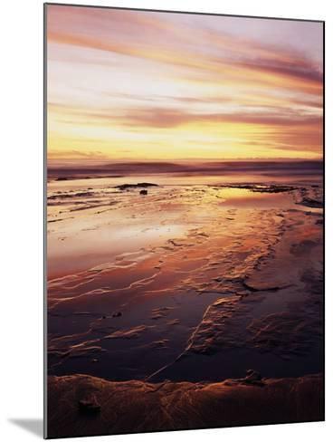 California, San Diego, Sunset Cliffs, Sunset over Tide Pools-Christopher Talbot Frank-Mounted Photographic Print