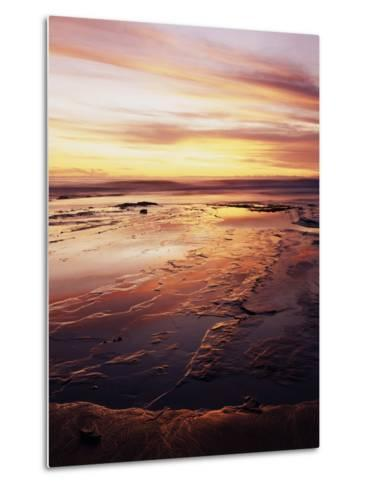 California, San Diego, Sunset Cliffs, Sunset over Tide Pools-Christopher Talbot Frank-Metal Print