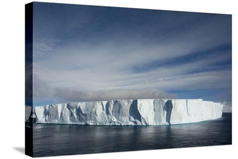 Antarctica. Antarctic Sound. Giant Tabular Iceberg-Inger Hogstrom-Stretched Canvas Print
