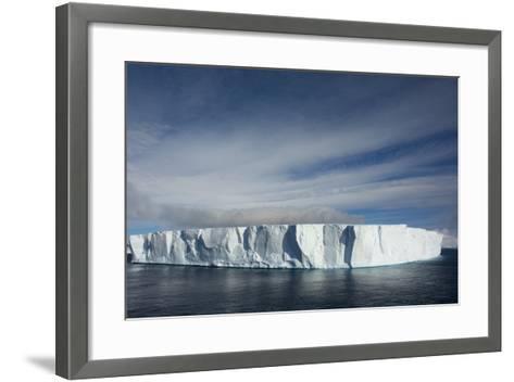 Antarctica. Antarctic Sound. Giant Tabular Iceberg-Inger Hogstrom-Framed Art Print