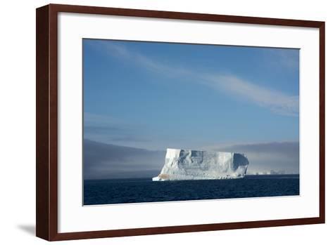 Antarctica. Antarctic Sound. Tabular Iceberg-Inger Hogstrom-Framed Art Print