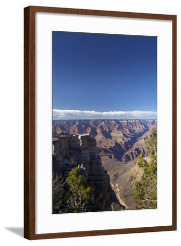 Arizona, Grand Canyon National Park, Grand Canyon and Tourists at Mather Point-David Wall-Framed Art Print