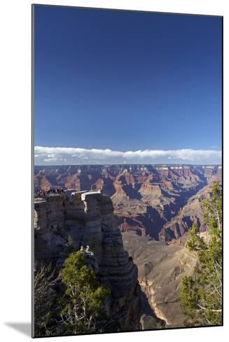 Arizona, Grand Canyon National Park, Grand Canyon and Tourists at Mather Point-David Wall-Mounted Photographic Print