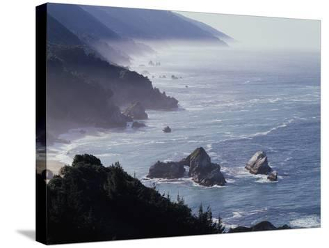 California, Big Sur Coast, Sea Stacks Along the Central Coast-Christopher Talbot Frank-Stretched Canvas Print