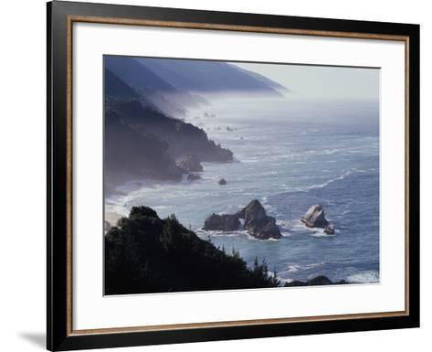 California, Big Sur Coast, Sea Stacks Along the Central Coast-Christopher Talbot Frank-Framed Art Print