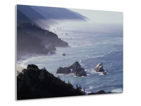 California, Big Sur Coast, Sea Stacks Along the Central Coast-Christopher Talbot Frank-Metal Print