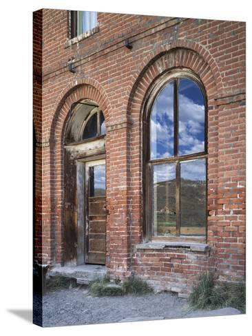 California, Bodie State Historic Park, Reflections in a Window-Christopher Talbot Frank-Stretched Canvas Print