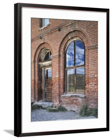 California, Bodie State Historic Park, Reflections in a Window-Christopher Talbot Frank-Framed Art Print