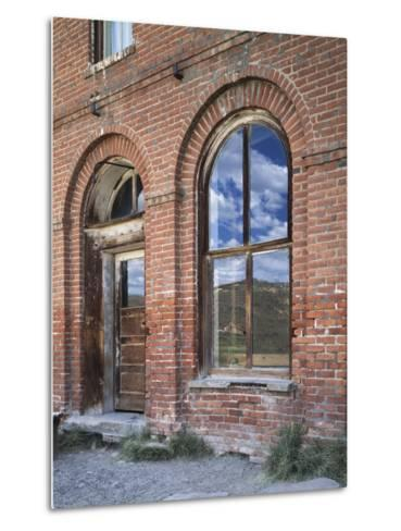 California, Bodie State Historic Park, Reflections in a Window-Christopher Talbot Frank-Metal Print
