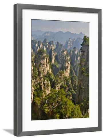 China, Hallelujah Mountains, Wulingyuan, Landscape and Many Peaks-Darrell Gulin-Framed Art Print