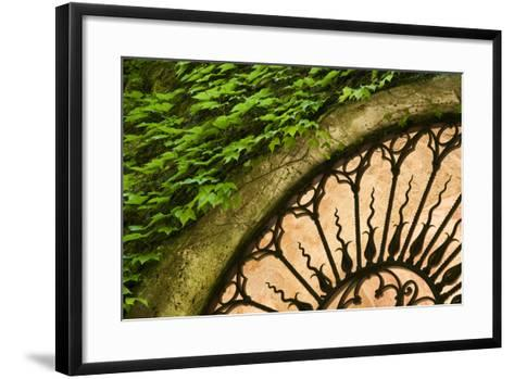 Europe, Italy, Tuscany. Celsa Castle Window Detail-Jaynes Gallery-Framed Art Print