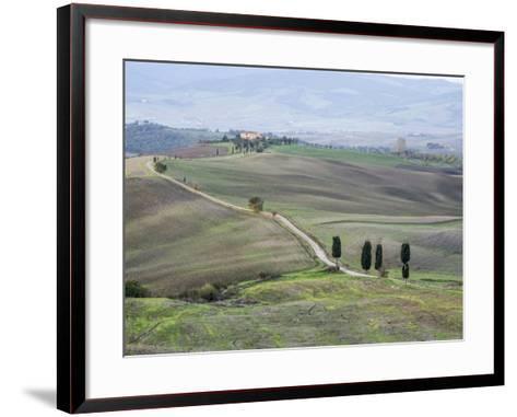 Europe, Italy, Tuscany. Tuscan Landscape in Autumn-Julie Eggers-Framed Art Print