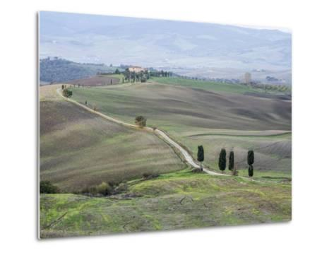 Europe, Italy, Tuscany. Tuscan Landscape in Autumn-Julie Eggers-Metal Print