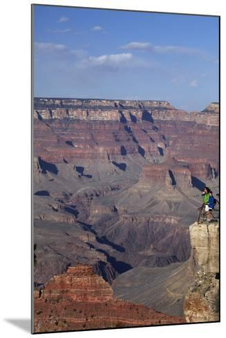 Arizona, Grand Canyon National Park, Grand Canyon and Tourists at Mather Point-David Wall-Mounted Photographic Print